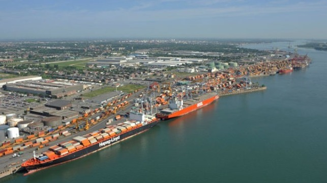 work slowdown over labor dispute longshoremen port of Montreal