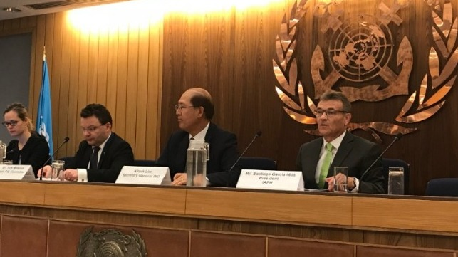 Santiago Garcia Milà delivered his maiden speech at IMO headquarters this week