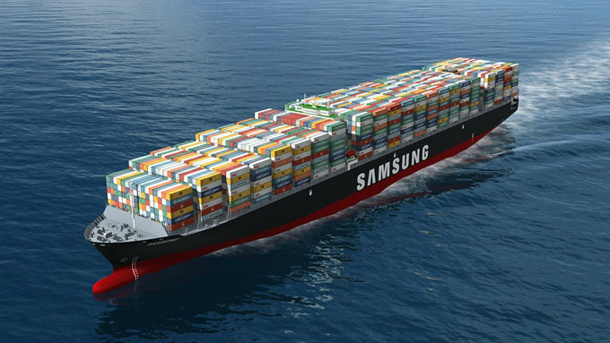 Samsung container ship