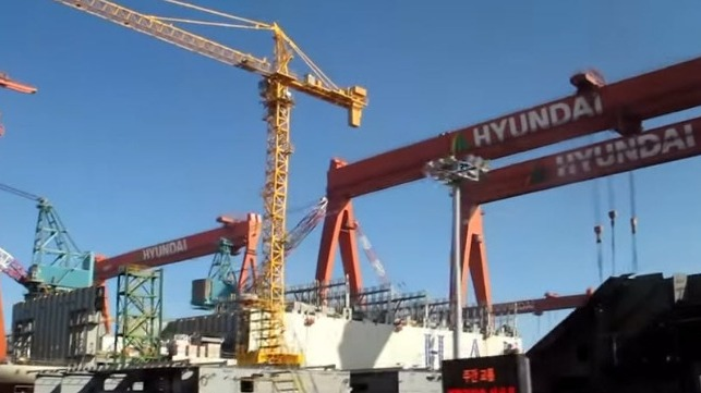 South Korean shipyards receive largest new orders for third month in a row