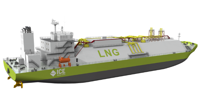 ICE Ship Design LNG Carrier