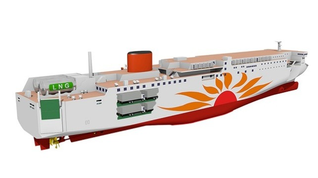 LNG supply for first ferries in Japan