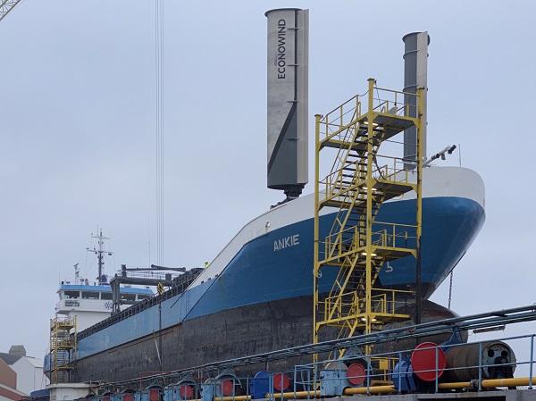 Une nouvelle technologie Wind-Assist entre en service en mer du Nord