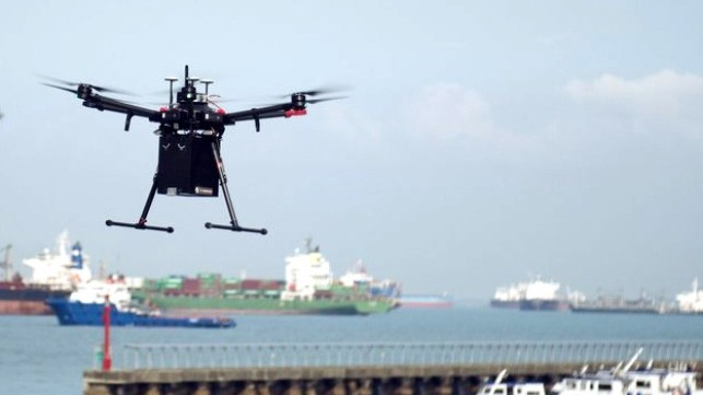 drone deliveries to ships at anchor