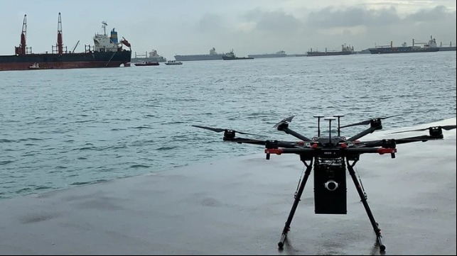 drone delivery to ships
