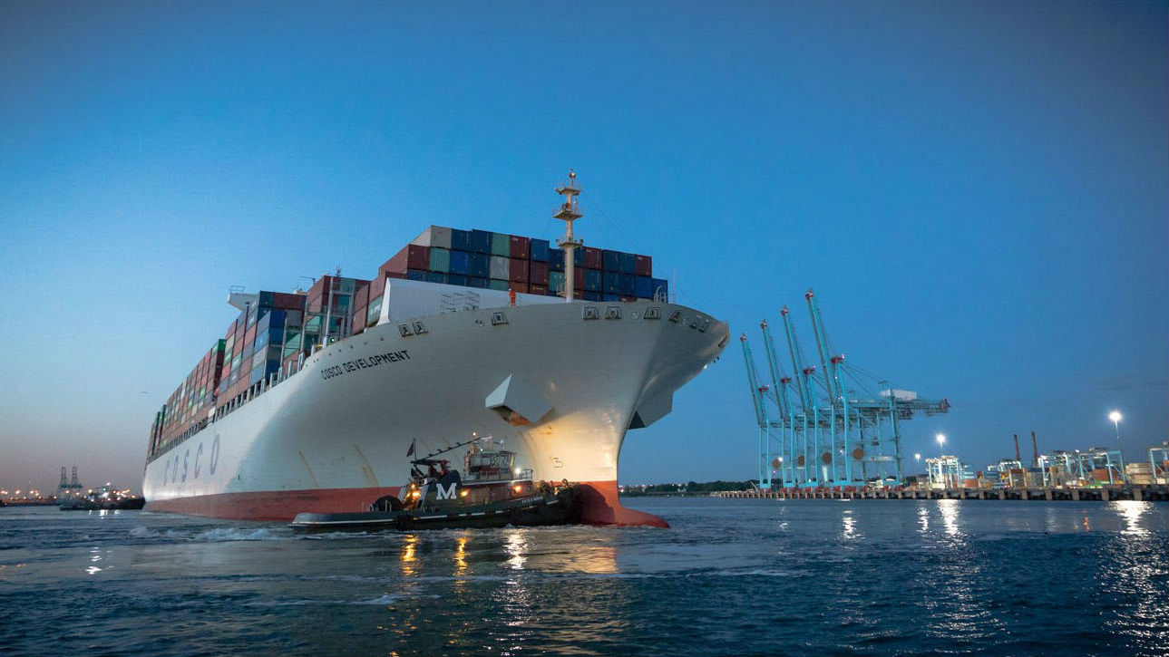 Largest container ship to call on East Coast coming Monday