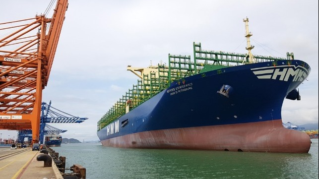 HMM takes deliver of 12 world's largest boxship  in five months