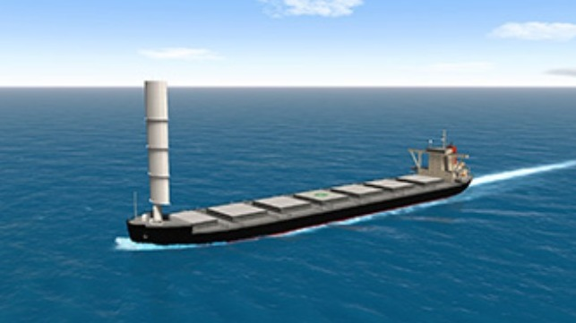 reducing emissions from bulk carrier