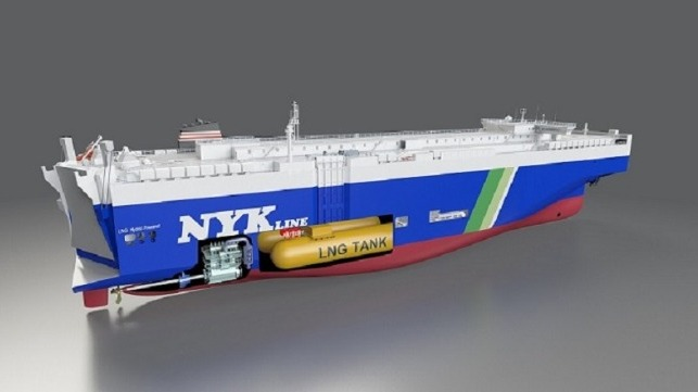 LNG-fueled car carrier to be built in China