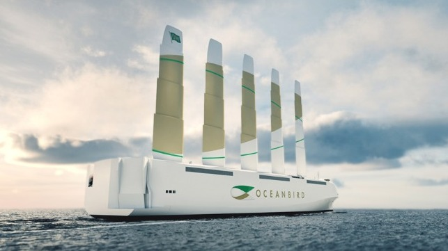 concept design for sail powered car carrier developed in Sweden