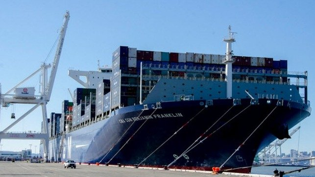 CMA CGM Benjamin Franklin in Oakland