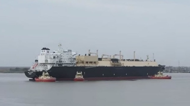 LNG carrier at Sabine Pass