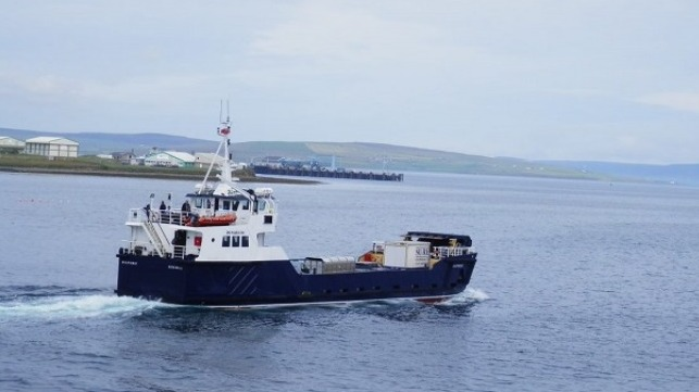 The Shapinsay vessel courtesy of David Hibbert, Ornkey Islands Council