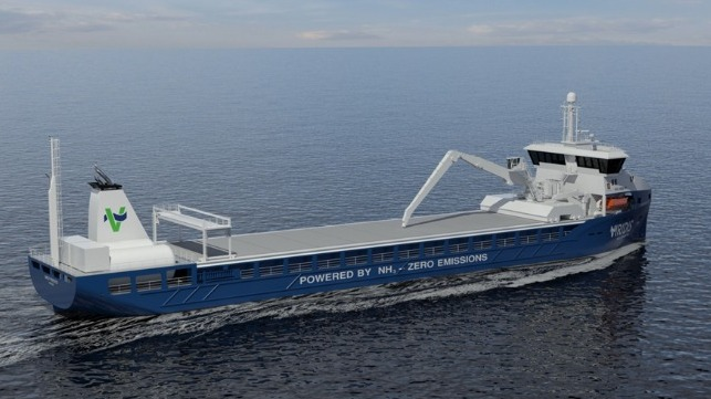 shortsea ammonia-fueled bulk carriers from Norway