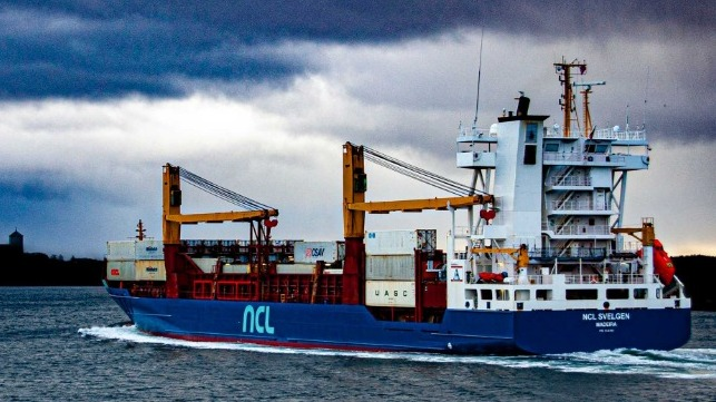 NCL svelgel container ship