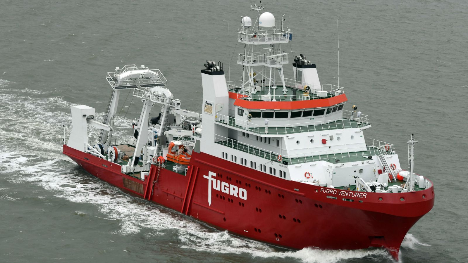 Fugro Venturer geophysical and hydrographic survey ships