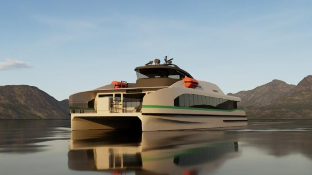 fully electric fast ferry uses modular design