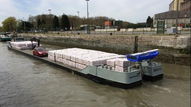 hydrogen powered lallet barge planned for France