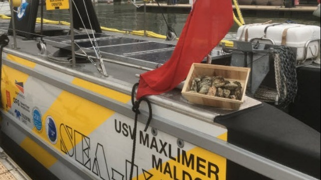 SEA-KIT vessel with oysters
