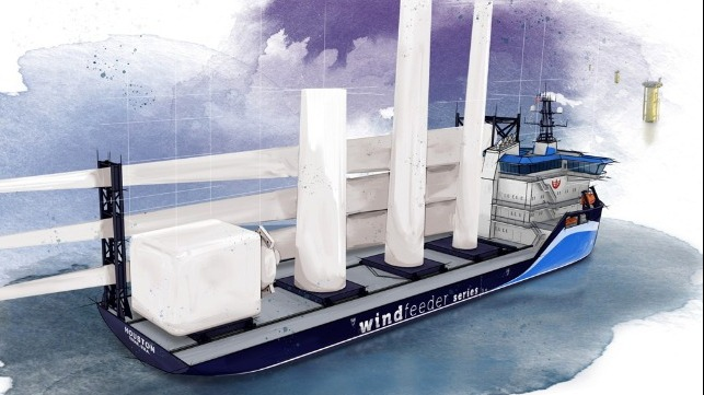 wind feeder vessel for US East Coast operations