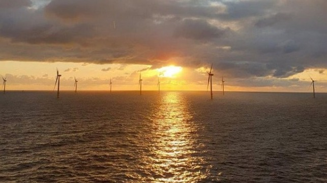 Sunset view from the installation vessel Blue Tern (Photo: ENBW / ERSG, Adam Blackman)