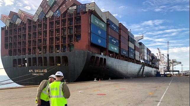 APL England Preliminary report on container loss incident