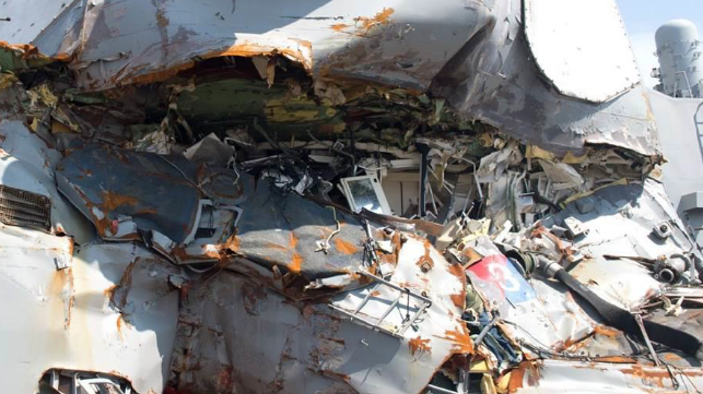 damage to USS Fitzgerald
