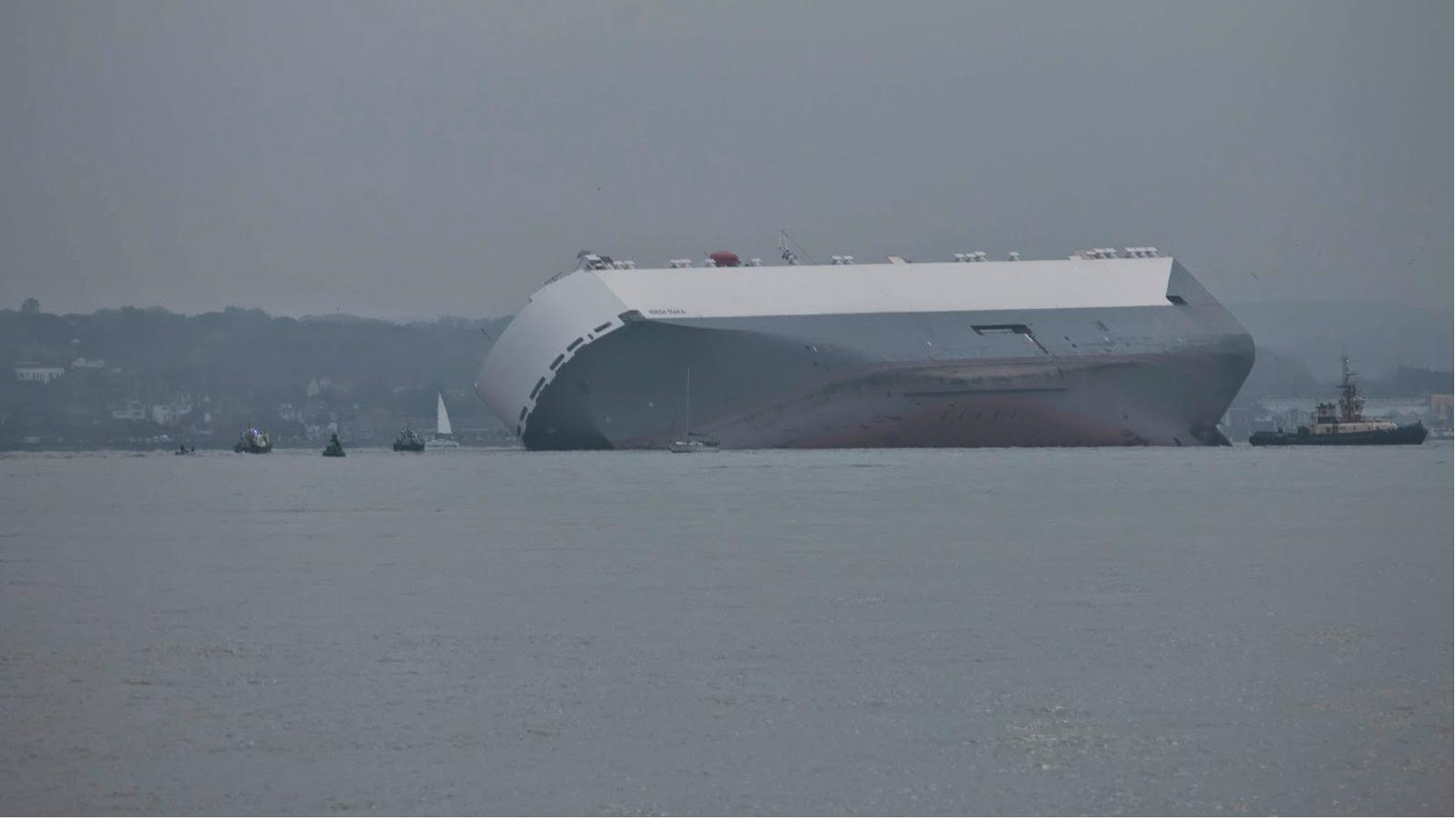 Hoegh Osaka grounded