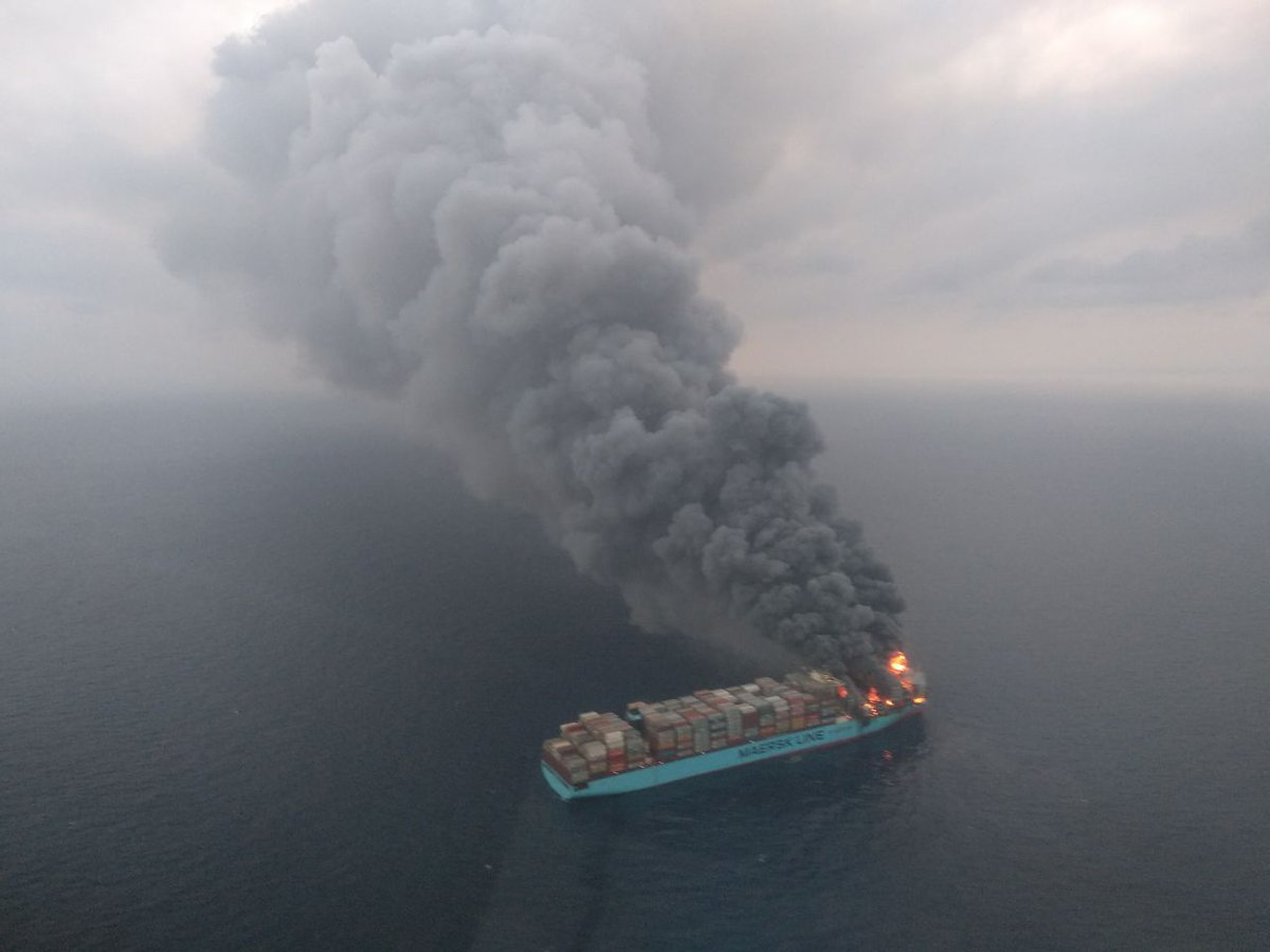 Maersk Honam fire: Remains of missing 3 found onboard