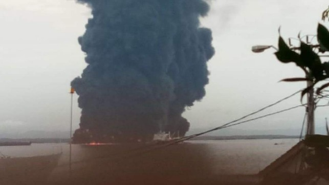 bulk carrier fire