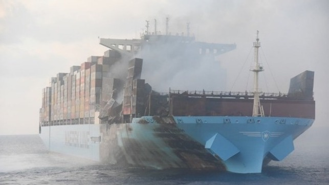 Sad Tale of Maersk Line Container Ship Fire Continues