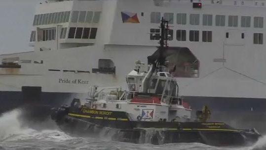 Ferry runs aground at Calais Port