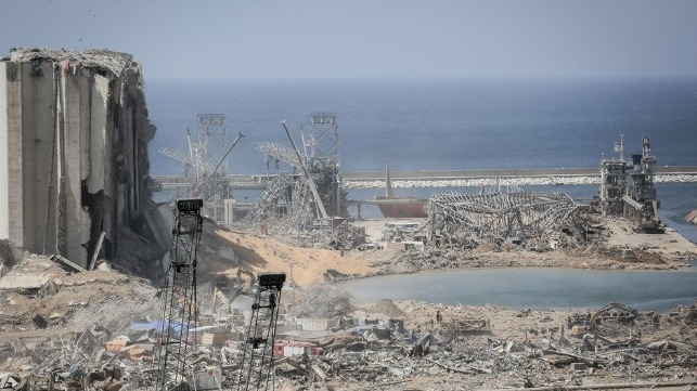 beirut explosion port
