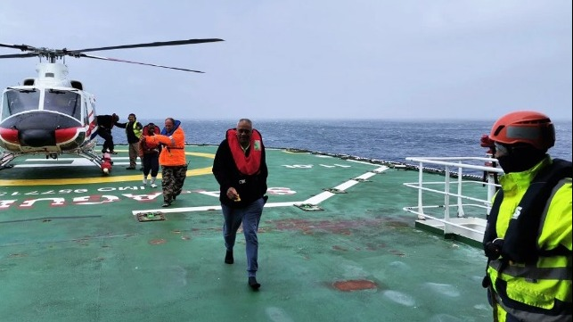 stranded seafarers rescued off remote South Atlantic island