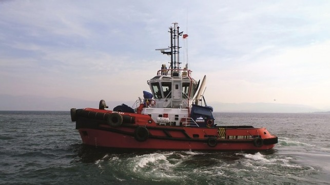 Med Marine's new tugboat, MED XXV, is a Robert Allan Design RAmparts 2300-MM tugboat, designed exclusively for Med Marine.