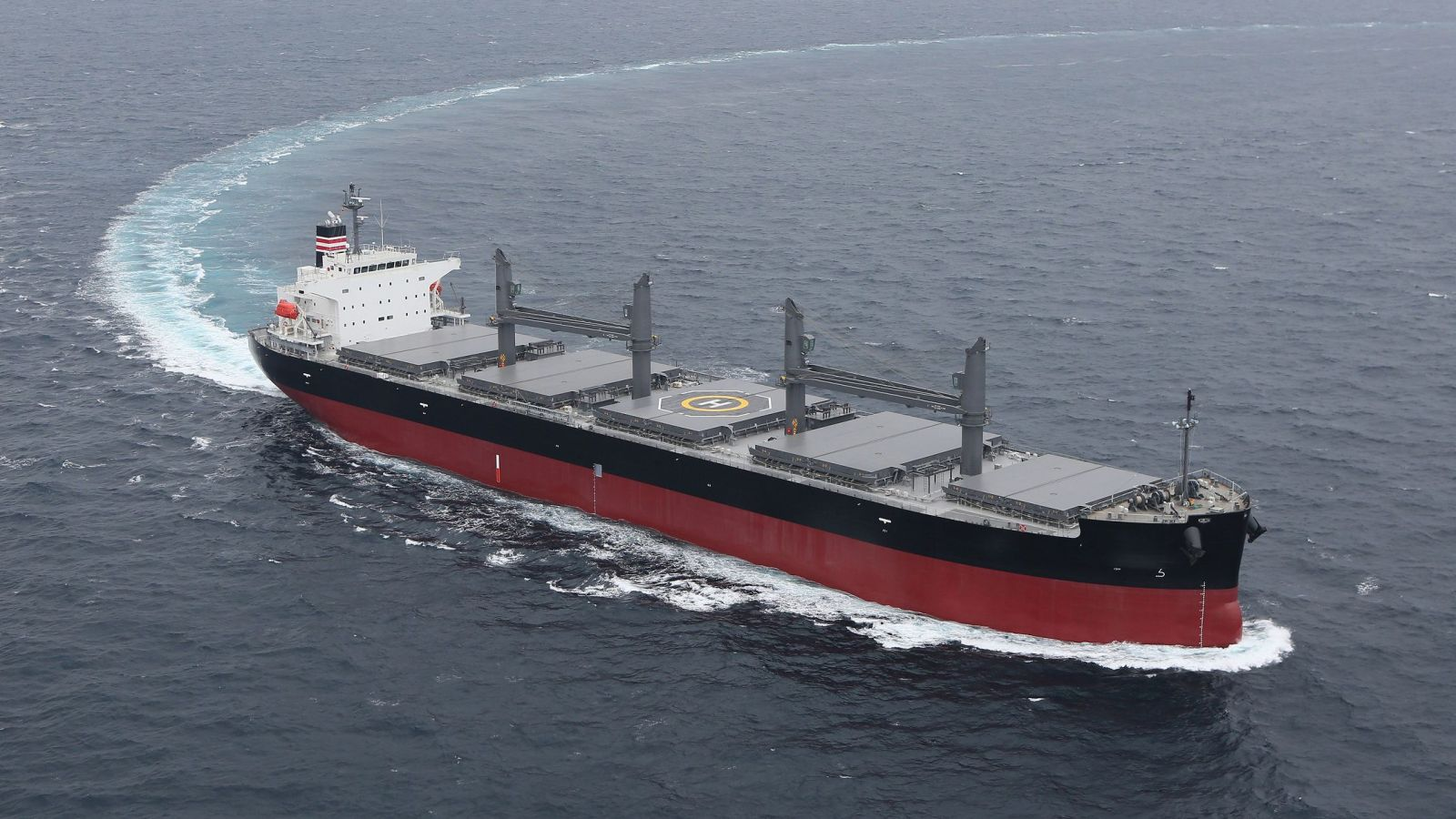 The NYK BP Handymax Bulk Carriers which will be equipped with W?rtsil? scrubbers to be built at Oshima Shipyard - image courtesy of NYK BP