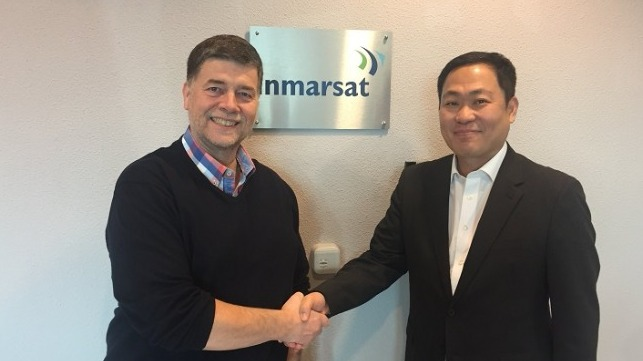 Ronald Spithout, President, Inmarsat Maritime and Eric Sung, President & CEO, Intellian